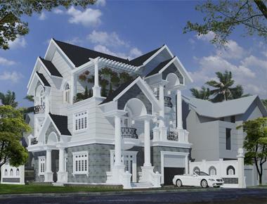 Thiết kế biệt thự mini mái thái đẹp