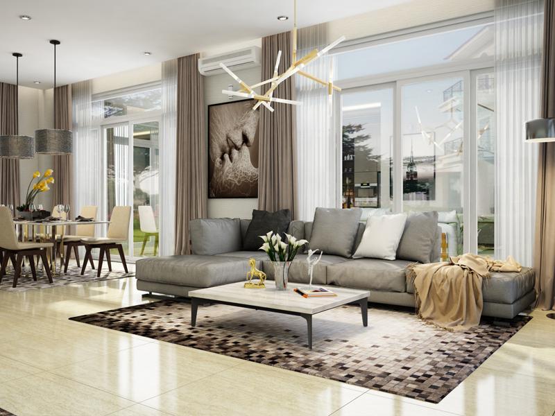 Thiết kế nội thất biệt thự The Venica