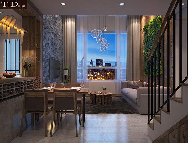 Thiết kế nội thất căn hộ Duplex - Mr. Sangholee
