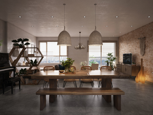 Thiết kế nội thất căn hộ Duplex Vista Verde